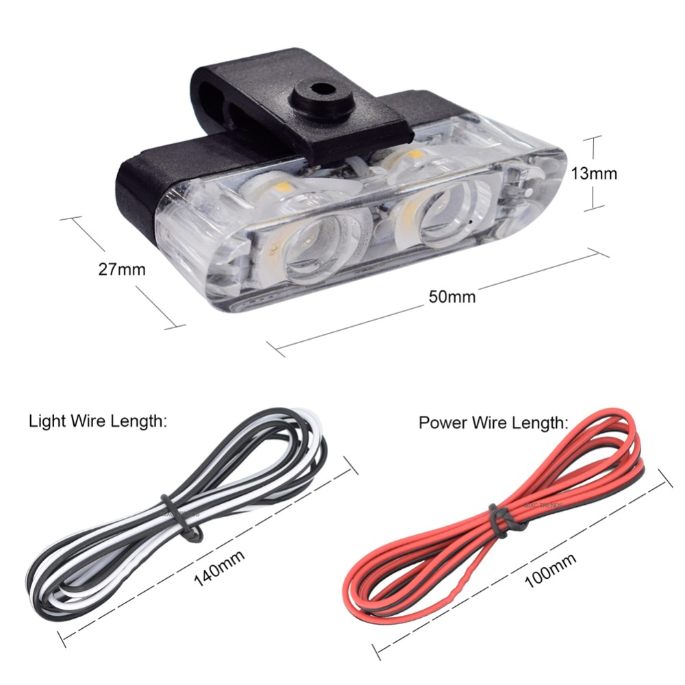 Mixc Trends 12v 4led Mini Car Led Strobe Flash Police Light High Circuit Diagram Of Brightness Styling Emergency Warning 3 Flashing Fog Lights In Assembly From