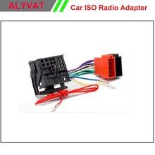 Бесплатная Доставка Автомобильный DVD Радио стерео ISO кабель-Адаптер для Volkswagen Golf Passat Touareg Touran 2002 + Audi/Skoda/Seat