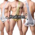 Hombres moda sin respaldo de un hombro camiseta de lucha interior luchas body leotardo boxeador boxeadores