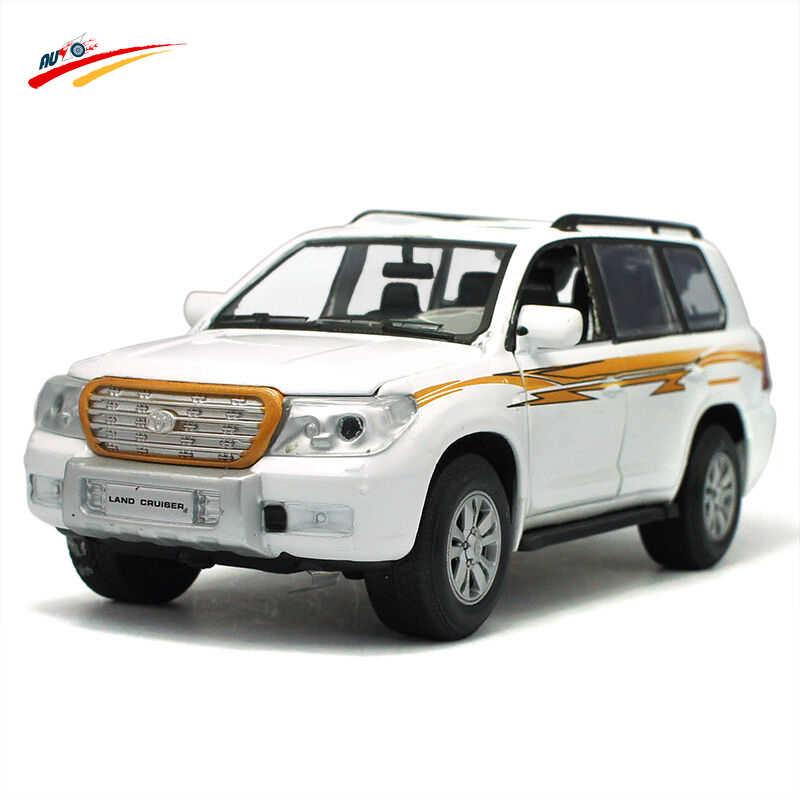 1:32 Skala Logam Paduan Diecast Menarik Kembali Model Mobil Pickup Koleksi Model dengan Sound & Light dan Pintu Dapat terbuka Mainan