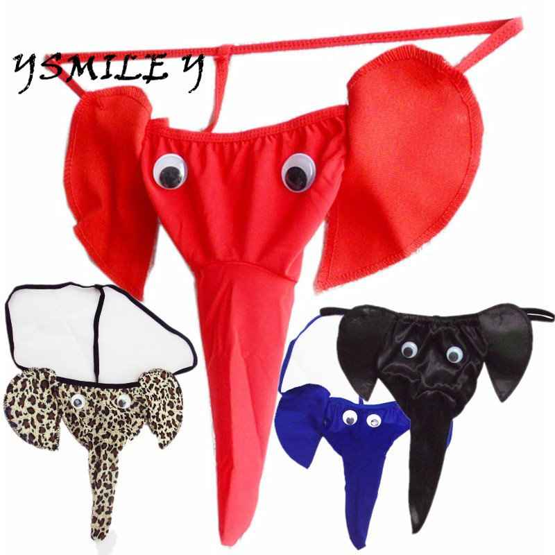 2017 New Limited Sexy Erotic Homens Mens Gay Sexy Lingerie Elephant G-string Underwear Pants Male T-back Jockstrap Thongs Panty