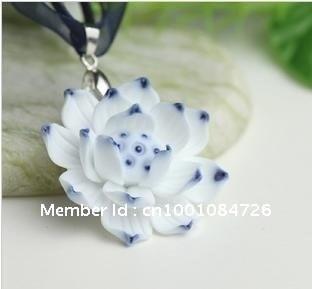 China blue and white porcelain pendants, lotus pendants