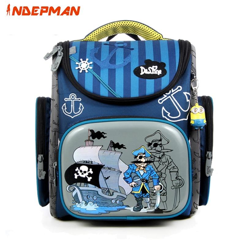 Delune Character School Bag Backpack for Children Girls Boys Cartoon School Satchel Orthopedic Waterproof Kids Mochila Infantil