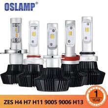Oslamp 7HL Автомобильный светодиодный фары H4 светодиодный H7 9005 9006 H13 50 Вт 4000LM спереди лампы Автомобильные фары 3000 К 6500 к автомобильное освещение