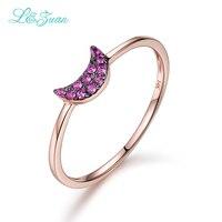 Anniversary Promise Rings14K Rose Goud Natuurlijke Ruby Griffenzetting Trendy Red stone Ring Sieraden Voor Vrouwen Gift Bijoux bien