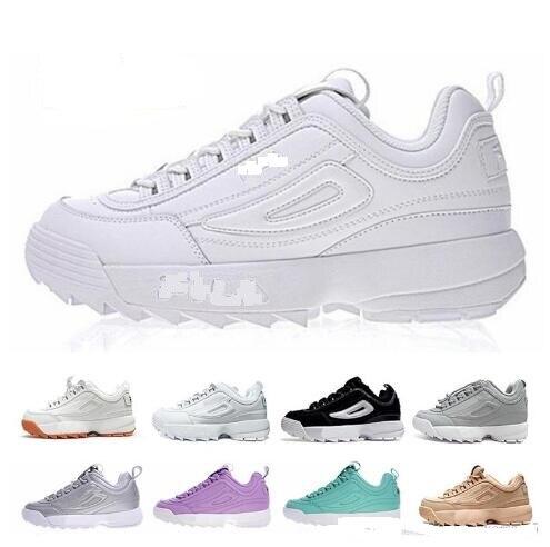 d685f4da27364 FILIA Disruptors II 2 Mens Women Running Shoes High Quality Triple White  Black Luxury Designer Sports Jogging Shoe