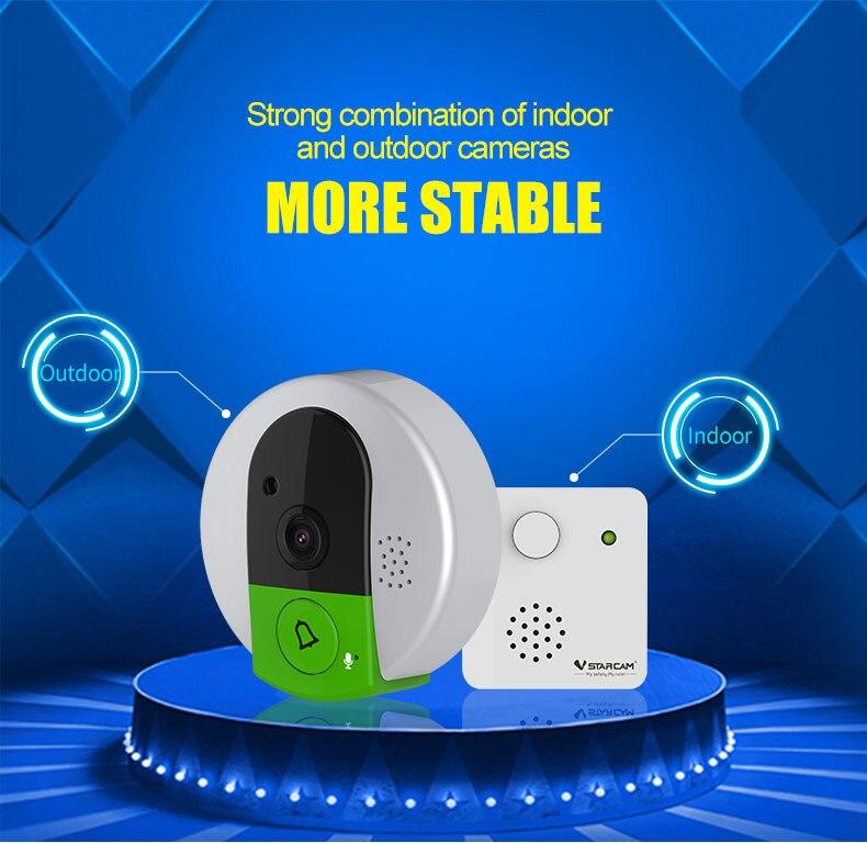 Interphone sans fil 720 P WIFI sonnette visiophone avec sonnetteInterphone sans fil 720 P WIFI sonnette visiophone avec sonnette
