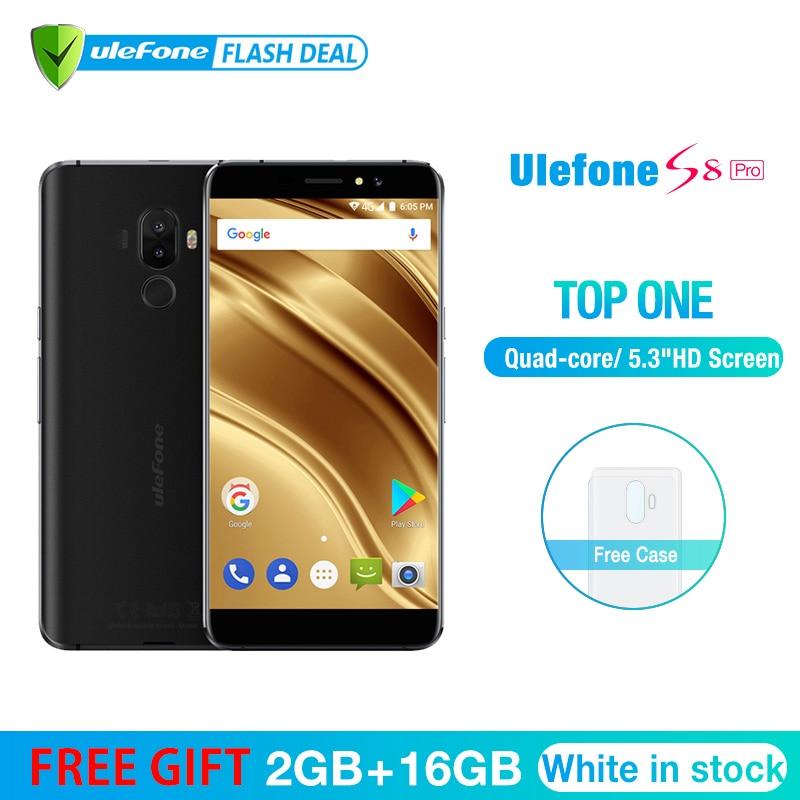 Ulefone S8 Pro Handy 5,3 zoll HD MTK6737 Quad Core Android 7.0 2 gb + 16 gb Fingerprint 4g smartphone