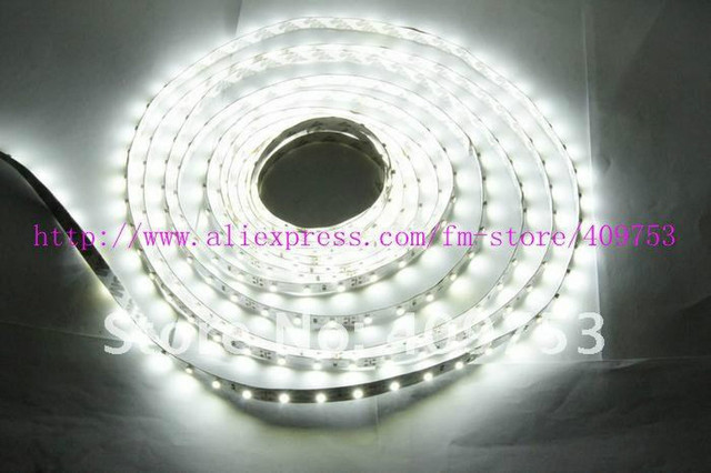 hot sale 5M 300 leds  Flexible 60 leds/meter 3528 SMD LEDS strip light Non-waterproof white/red/green/yellow/blue