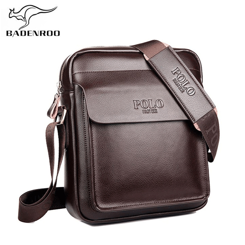 Brand Polo Men Shoulder bag Real Genuine leather Male Messenger Bag Fashion Casual Business Shoulder Handbags Briefcase for Men