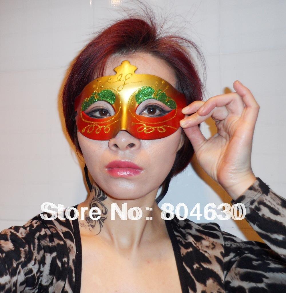 Party Masks Half Face Hand Drawing Woman mask venetian masquerade ...