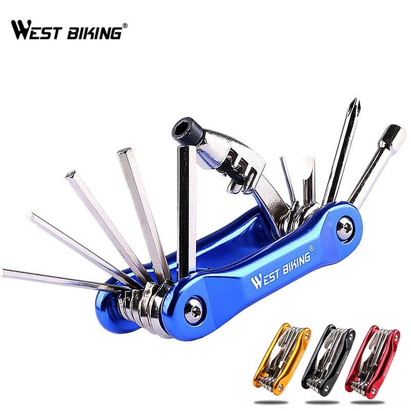 WEST BIKING Multitool Bicycle Repair Tools Chain Hex Spoke Wrench Screwdriver 10 In 1 Kit Set Road MTB Bike Cycling Multi Tools