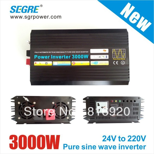 New 3000W dc to ac 24v 220v pure sine wave solar inverter.