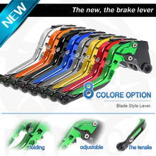 Adjustable collapsible extended motorcycle brake clutch lever CNC for Kawasaki ZX10R -ZX10RR 2004- 2015 Nian brake pull bars