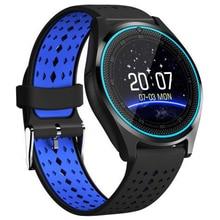 Bluetooth Смарт-часы V9 с камерой, умные часы, шагомер, спортивные часы для здоровья, мужские и женские Смарт-часы для Android IOS