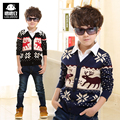 Free Shipping Children's clothing child sweater thickening outerwear winter faux two piece sweater child cardigan baby child top