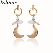 2018 fashion crescent earrings zinc alloy ms delicate pendant wholesale temperament female model
