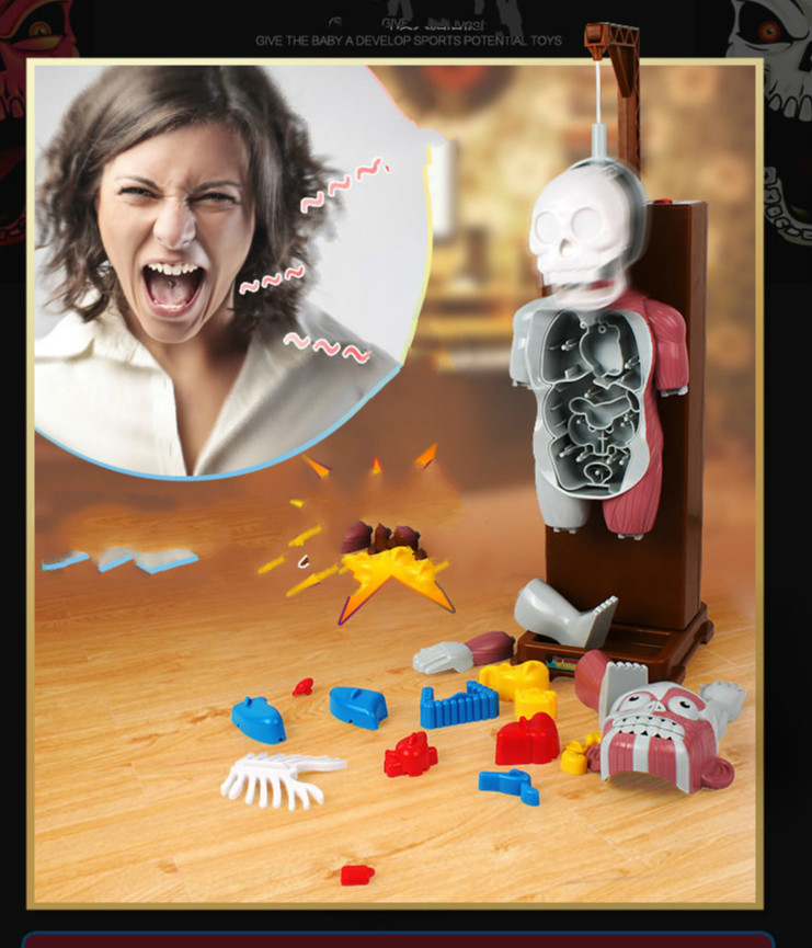Nouveau jouet drôle nouveauté Gag jouets astuce blague cadeau pour enfants assemblé jouet jeux amusants le terroriste corps humain modèle 3D puzzles