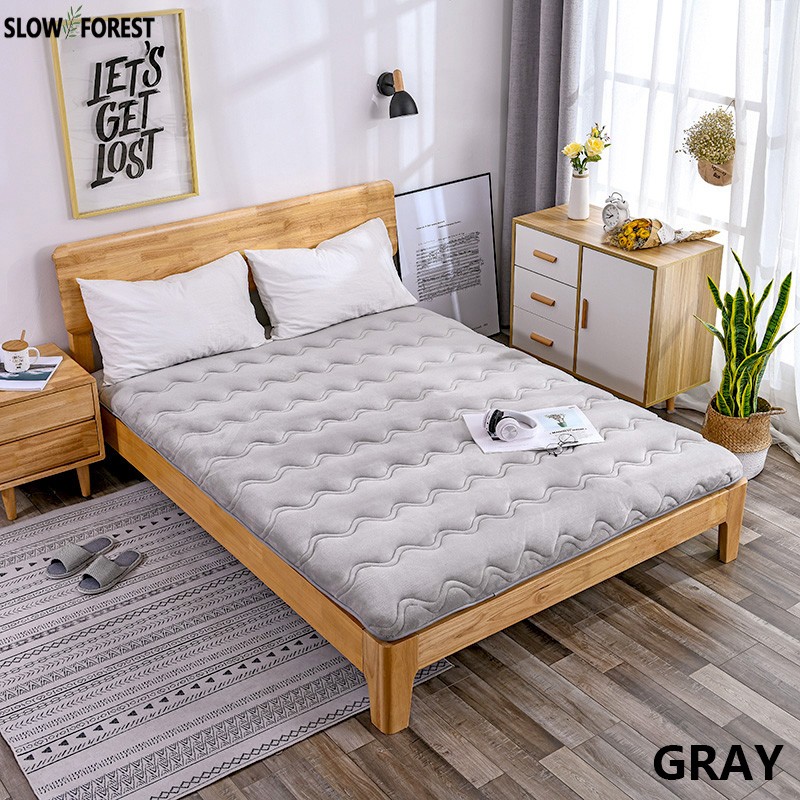 Slow Forest Tatami Mattress Thickened Bed Mat Carpet Economy 1.8M Double Floor Sleeping Mat Lazy Cushion Sheet without Pillows