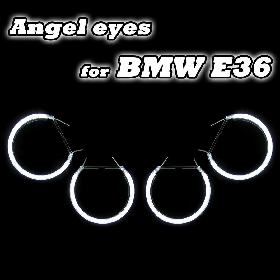For BMW Angel Eye Ring Headlight Ccfl Angel Eyes Car Angel Eyes Light Angel Eye Rings For BMW E36 E38 E39 E46 4x131mm angel city