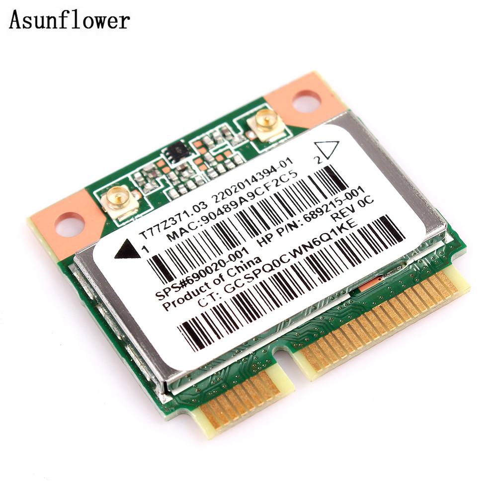 Asunflower Notebook Network Cards Wireless WiFi Card PCI-E 300M RT3290 For HP Laptop 689215-001 Ralink RT3290 Wifi Card