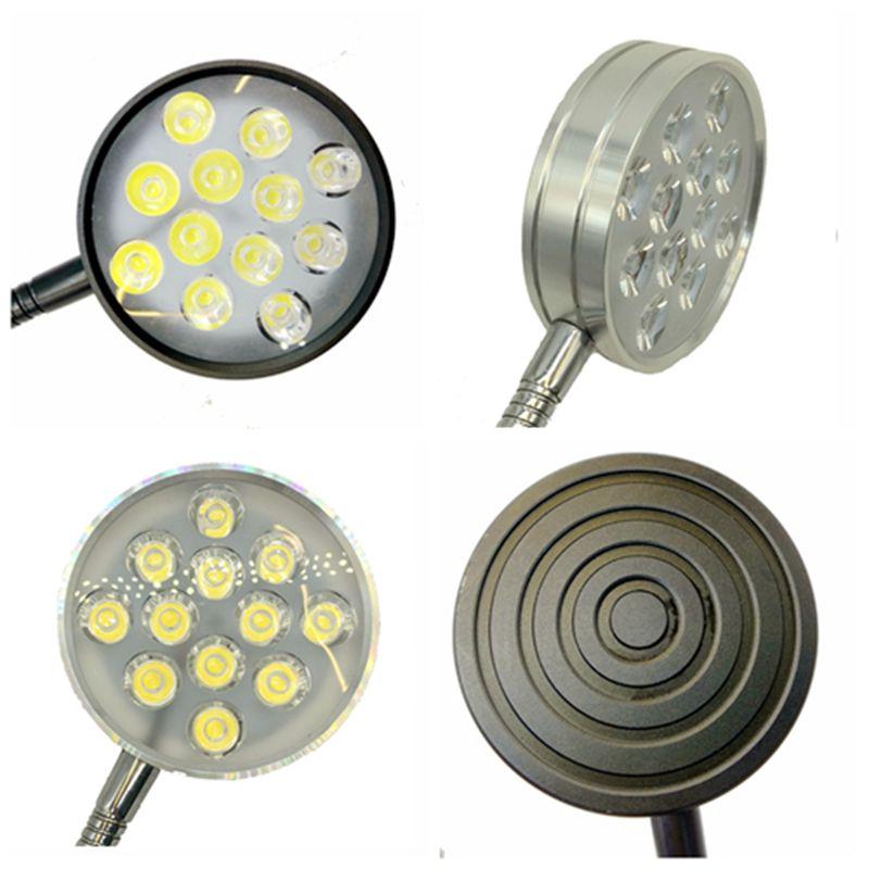 12W 110V 220V Flexible Pipe Led Desk Clamp Lamp in Desk Lamps from Lights Lighting