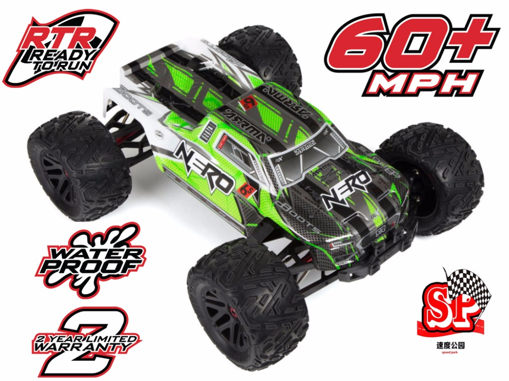 Arrma Nero 6s Brushless waterproof blx 1/8 RTR scale 150A ESC 4wd monster truck-No differential lock version lcracing 1 14th brushless monster truck rtr world s 1st emb mth rtr version