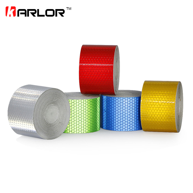 5cmx10m Safety Mark Reflective Tape Sticker Car-Styling Self Adhesive Warning Tape Automobiles Motorcycle Reflective Film Safety