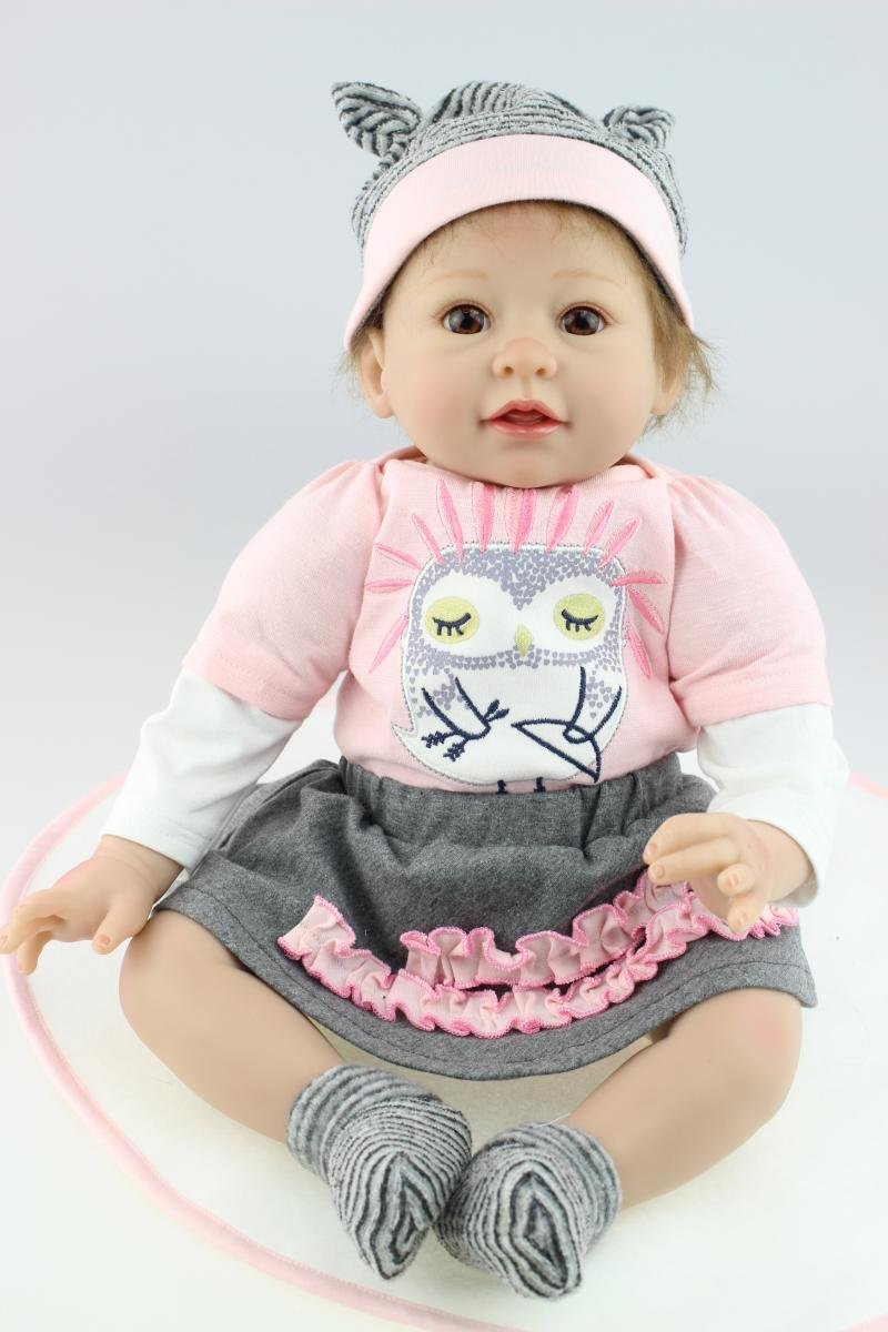 NPK collection Reborn Baby Doll, Vinyl Silicone 22 inch 55 cm Babies Doll, Lifelike express Toys Girl for Children Gift reborn baby doll vinyl silicone 28 inch 70 cm babies doll lifelike express toys girl for children gift beautiful princess dress