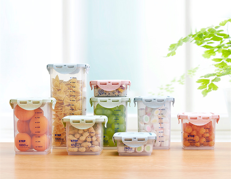 Half Flip Kitchen Container Set and Airtight Food Storage Box Storage for Preservation of Cereals 11