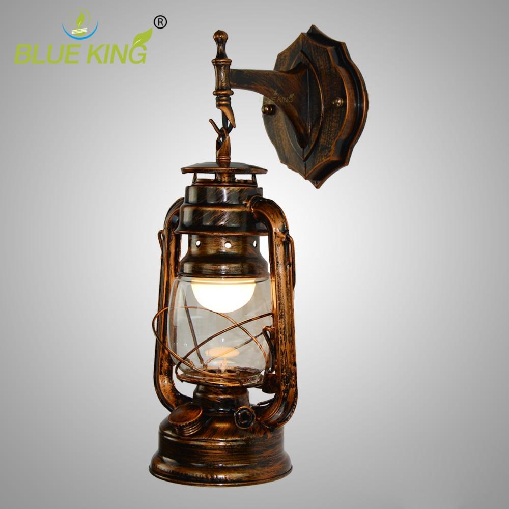 Loft Vintage Kerosene Lampade Da Parete, Metallo, Ferro Lampadari ...