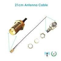soonhua антенна беспроводной ггц 2, 4 5дби RP-роскошью мужская антенна для беспроводной сети Wi-Fi и маршрутизатор с 21 см ЧКВ у. ФЛ протокол IPX для SMA в мужской косичка кабель