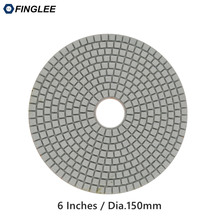 FINGLEE 1pcs 6 inch / 150 mm High Grade Granite,marble,Concrete Ceramic Stone work restoration Wet Diamond polishing pad