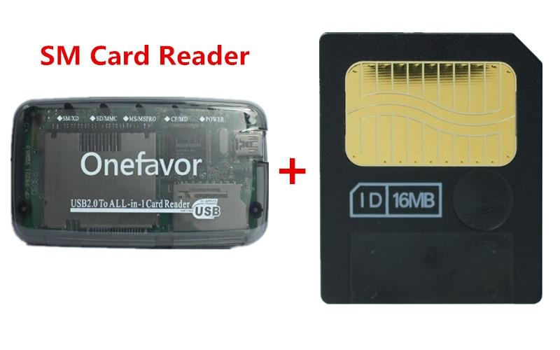 New!!! Smart Media Card 16MB Smartmedia SM Memory Card 16M+ SM Memory Card Reader