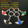 10 PCS High quality 3D colour  Metal auto Car Logo Keychain for MINI Vehicle Emblem mini Key Chain for MINI Auto Badge