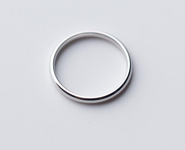Fashion Dainty 925 Sterling Silver Fine Jewelry Thin Above Knuckle Midi Ring 2mm Width Band GTLJ1257
