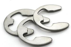 20-100 pces m2 m2.5 m3 m3.5 m4 m5 m6 m7 m8 m9 m10 m12 de aço inoxidável e-tipo anel de retenção circlip arruelas e-clip split