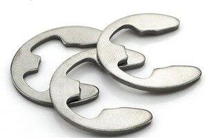 20-100 szt. M2 M2.5 M3 M3.5 M4 M5 M6 M7 M8 M9 M10 M12 pierścień ustalający ze stali nierdzewnej typu E podkładki pierścieniowe e-clip podkładka dzielona