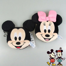 New 12cm Minnie Mickey Plush Toys for Kids mickey Coin Purses Bag Pendant Gifts