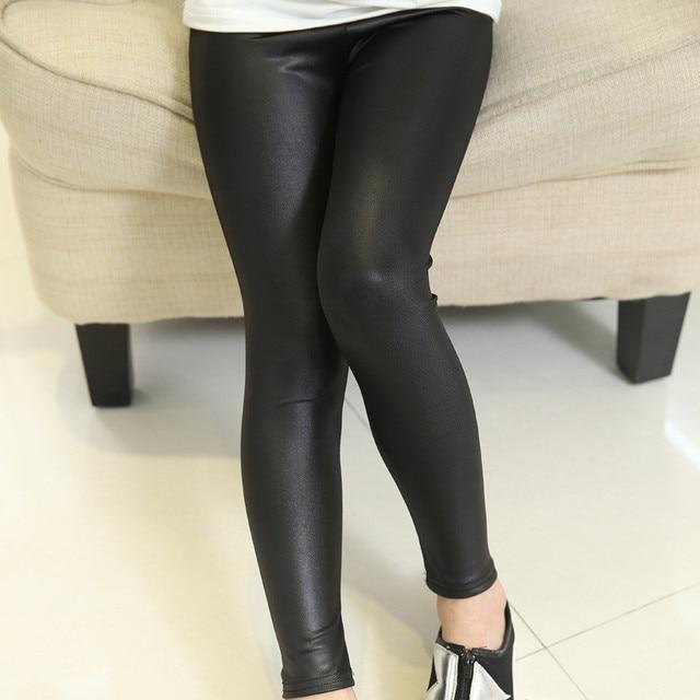 b77d183c11c10 Girl Skinny Pants Black Girl Legging Pant Kids Leather Pants Baby Girl  Pants Kid Leggings Children Trousers