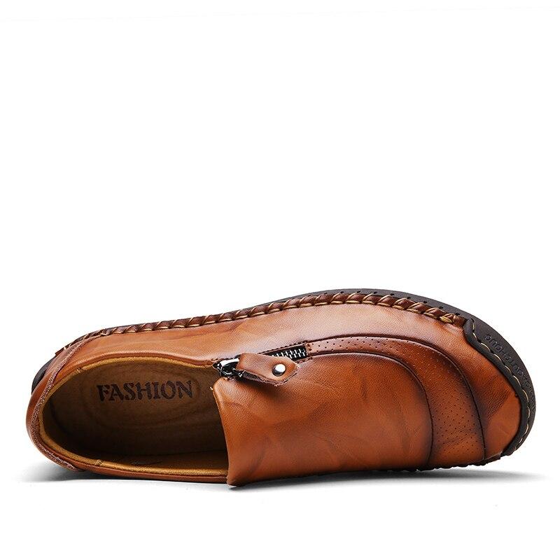 Image 2 - ZUNYU/Новая мужская повседневная обувь, большие размеры 38 48 демисезонные лоферы, мужские Мокасины Мужская обувь из натуральной кожи на плоской подошве Брендовая обувь-in Мужская повседневная обувь from Обувь