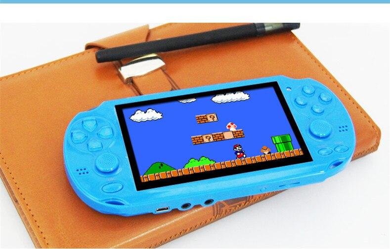 Haute qualité 8 GB MP4 MP5 lecteur 4.3 pouces PMP lecteur de jeu Portable Double Rocker vidéo FM caméra Console de jeu Portable
