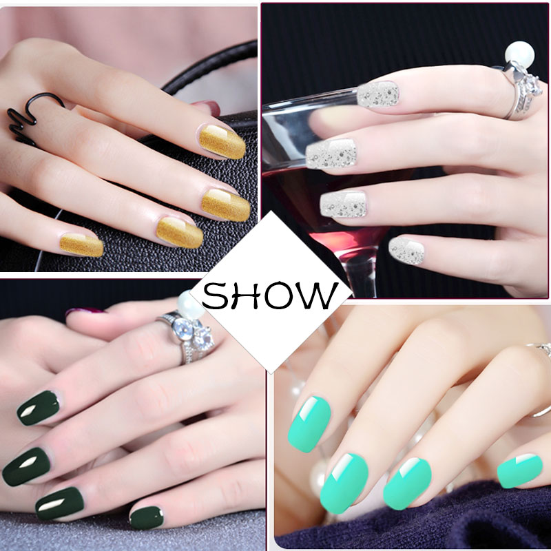 New Top Coat Gel Nail Polish for Nails Design Set Glitter Colorful Semi permanent Gel Lacquer Manicure UV LED Gel Nail Art