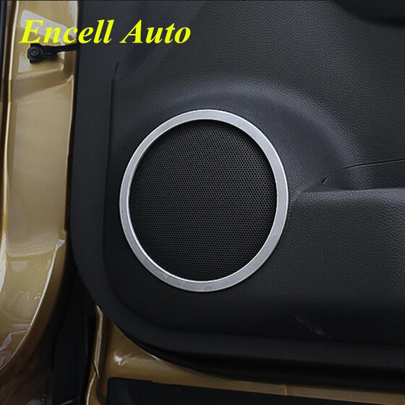 Z nerezové oceli chrom dveře stereo reproduktor reproduktor kroužek auto reproduktor dekorace dekorace pro Nissan nové Qashqai 2015 2016 příslušenství