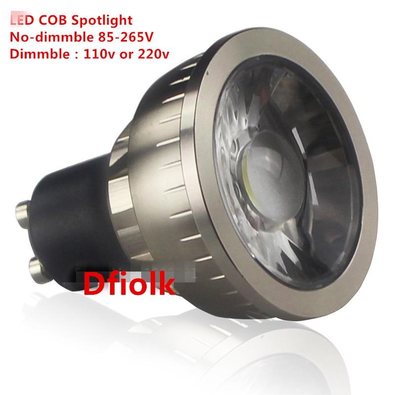 1 шт. супер яркий затемнения GU10 удара 9 Вт 12 Вт 15 Вт светодиодные лампы AC110V 220 В spotlight теплый белый/холодный белый светодиодное освещение