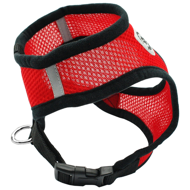 New Soft Breathable Air Nylon Mesh Puppy Dog Pet Cat Harness and Leash Set 4
