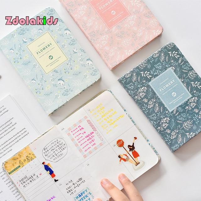 Korean New 2018 Kawaii Vintage Flower Schedule Yearly Diary Weekly