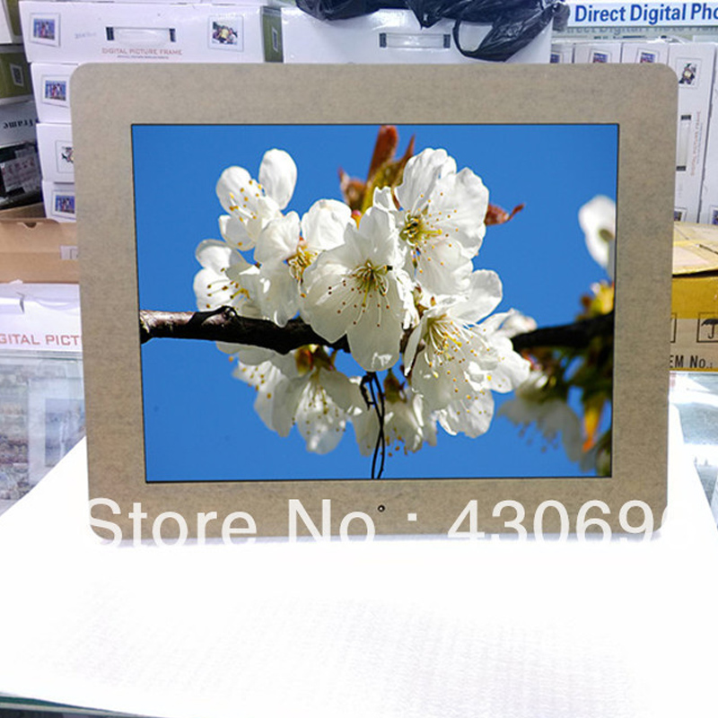 Free shiping 12 inch digital photo frame/electronic photo album/photo frame/MP3 play video/fashion home postage digital frame
