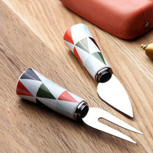 2Pcs Nordic Style Stainless Steel Carving Fork Carving Knife Barbecue Fork Tongs Pull Shred Pork BBQ Barbecue Tool