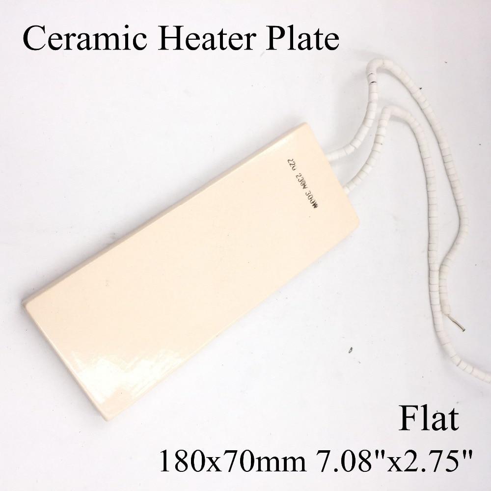 220V 180x70mm Flat Vacuum Injection Molding Machine Repair Far-infrared IR Ceramic Heating Plate Air Ceramic Heater Board Pad injection molding machine 45 70